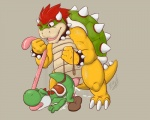all_fours animal_genitalia anthro ass_up barefoot big_dom_small_sub big_nose bowser butt chubby claws clothing cum cum_in_ass cum_inside cum_on_butt cum_on_ground cum_on_penis cum_while_penetrated cumshot dragon duo erection eyes_closed footwear genital_slit hair horn kaptcha king koopa leash lizard looking_down male male/male mario_bros nintendo one_eye_closed open_mouth orgasm penetration penis reptile royalty scalie sex sharp_teeth shell shoes short_hair size_difference slit smile spikes standing tears teeth toe_claws tongue tongue_grab tongue_out video_games yoshi   Rating: Explicit  Score: 15  User: Locus  Date: March 28, 2015