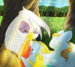 avian backlash91 bird blue_fur duo equine female friendship_is_magic fur gilda_(mlp) gryphon hair interspecies mammal multicolored_hair my_little_pony oral pegasus preening rainbow_dash_(mlp) rainbow_hair story story_in_description wings  Rating: Questionable Score: 5 User: warlight91 Date: December 07, 2014