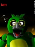 2015 abstract_background animatronic avian beak bird eyebrows fan_character five_nights_at_freddy's green_skin jg-draws larry looking_at_viewer machine mechanical open_mouth orange_eyes parrot robot video_games   Rating: Safe  Score: -5  User: JG-Draws  Date: April 26, 2015