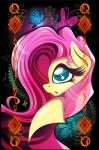2015 arthropod blue_eyes butterfly card equine female fluttershy_(mlp) friendship_is_magic hair insect mammal my_little_pony pink_hair playing_card portrait rariedash solo  Rating: Safe Score: 3 User: 2DUK Date: August 30, 2015