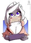 anthro big_breasts blue_eyes breasts chloe_sinclaire cleavage clothed clothing conditional_dnp english_text female fur grey_fur hair huge_breasts jollyjack long_hair looking_at_viewer mammal pen skunk smile solo text white_fur white_hair  Rating: Safe Score: 9 User: soxox Date: April 25, 2016