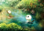 ambiguous_gender blue_eyes detailed_background green_eyes humanoid mammal meloetta mustelid nature nintendo one_eye_closed oshawott otter outside pokémon pond smile standing video_games water wink yuurakusei   Rating: Safe  Score: 4  User: Luminocity  Date: July 26, 2013