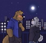 beard blue_eyes blush canine city confession couple cute dog duo facial_hair husky husky92 male male/male mammal manly moon musclechub night romantic shy size_difference wolf wolfdave young  Rating: Safe Score: 4 User: fmh94 Date: July 15, 2015