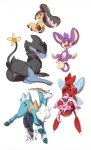 aipom anal anal_masturbation anal_penetration animal_genitalia animal_penis anus balls biped butt cobalion cum cum_in_ass cum_inside cumshot ejaculation equine_penis erection eyes_closed feline female feral legendary_pokémon luxray male male/female mammal masturbation mawile mienshao nintendo orgasm penetration penis pokémon presenting pussy pussy_juice quadruped red_sclera scizor sex simple_background size_difference tail_hand tingtongten tongue tongue_out video_games white_background