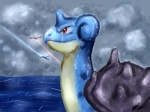 2013 britishstarr cloud flying lapras nintendo pokémon rain raining red_eyes sea shell storm swiming video_games water   Rating: Safe  Score: 3  User: 2DUK  Date: April 07, 2013