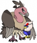 bone duo female feral mandibuzz mother mother_and_son nintendo paperguns parent pokémon pokémon_(species) rufflet simple_background son video_games white_background