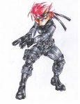 anthro belt bittenhard blue_eyes boots chipmunk clothing cosplay female footwear gun hair handgun headband holster knee_pads konami lipstick mammal metal_gear plantigrade ranged_weapon red_hair rodent sally_acorn simple_background solid_snake solo sonic_(series) uniform vest video_games weapon white_background  Rating: Safe Score: 17 User: Test-Subject_217601 Date: January 02, 2012