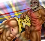 abs armor_king balls biceps big_muscles big_penis blush bound digitigrade duo erection eurobeat fangs feline fellatio fighting_ring fur green_eyes heterochromia human humanoid_penis king_(tekken) kneeling leopard male male/male mammal mask muscles nipples nude oral orgasm pecs penis pink_nose pubes red_eyes rope scar sex smile standing sucking sweat teeth tekken thick_penis toned vein veiny_penis whiskers yellow_eyes  Rating: Explicit Score: 9 User: BlackBoltEX Date: April 08, 2013""