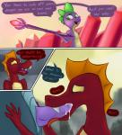 animal_genitalia comic cum cum_in_mouth cum_inside dialogue dragon fellatio forced friendship_is_magic garble_(mlp) genital_slit hi_res male male/male marsminer my_little_pony oral penis scalie sex slit spike_(mlp)  Rating: Explicit Score: 19 User: MarsMiner Date: April 16, 2016