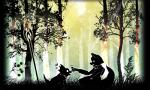 <3 anthro canine dinosaur duo food forest fox fox_mccloud grass male mammal mushroom nintendo prince_tricky silhouette sitting staff star_fox tree video_games weapon さるゐもRating: SafeScore: 1User: Cane751Date: April 23, 2017