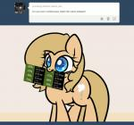 animated backy blue_eyes cutie_mark equine eyelashes female fur horse mammal my_little_pony numbers pony sale slavedemorto solo standing steam tan_fur tan_hair text tumblr valve   Rating: Safe  Score: 17  User: Secret_Sepulchre  Date: April 05, 2014