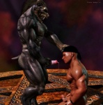 2012 3d abs animal_genitalia biceps big_muscles black_howler canine canine_penis cgi erection fangs gay human interspecies male mammal muscles nipples nude pecs penis were werewolf   Rating: Explicit  Score: 12  User: furmann  Date: December 16, 2012