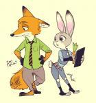 2016 anthro canine disney duo female fox judy_hopps lagomorph male mammal nick_wilde rabbit yahuxx28 zootopia  Rating: Safe Score: 1 User: Vallizo Date: April 30, 2016