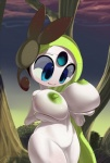 big_breasts blue_eyes breasts female forest hi_res holding_breast humanoid legendary_pokémon meloetta nintendo nipples oppai_loli outside pokémon pussy solo theboogie tree video_games wood  Rating: Explicit Score: 46 User: xXK1T5UN3Xx Date: August 25, 2012