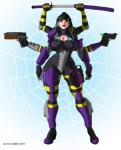 arachnid armor arthropod beauty_mark big_breasts black_hair bodysuit bounty_hunter breasts cleavage cleavage_cutout clothed clothing eyewear female goggles gun hair humanoid iron-dullahan japanese lips long_hair melee_weapon milf monster monster_girl mother multi_limb multiple_arms onikumo parent purple_eyes purple_lips ranged_weapon skinsuit solo sword tight_clothing voluptuous weapon wide_hips  Rating: Questionable Score: 4 User: slydevious Date: January 27, 2015""