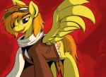 2013 amber_eyes clothing equine eyewear feathered_wings feathers female feral friendship_is_magic fur goggles hair inkybeaker looking_at_viewer mammal my_little_pony open_mouth orange_hair pegasus red_background scarf simple_background smile solo spitfire_(mlp) spread_wings wings wonderbolts_(mlp) yellow_feathers  Rating: Safe Score: 6 User: ConsciousDonkey Date: April 23, 2016