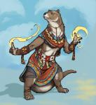 2017 clothed clothing female magic mammal mustelid nib-roc otter