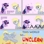 blonde_hair comic crying cythocalypse derp derpy_hooves_(mlp) equine eyewear female feral fire friendship_is_magic glasses hair horn long_hair magic mammal my_little_pony pegasus short_hair tears twilight_sparkle_(mlp) unicorn wings  Rating: Safe Score: 8 User: Trapper Date: June 12, 2011