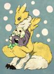 3_fingers 3_toes ambiguous_gender anthro black_nose blue_eyes brown_eyes canine claws clothing digimon duo fox fur gloves mammal nasi0505 renamon simple_background terriermon toe_claws toes white_fur yellow_fur yin_yang  Rating: Safe Score: 13 User: Finchmaster Date: December 22, 2013