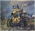 border cannon cloud digital_painting_(art) feral full-length_portrait gatling_gun gun hi_res machine mechanical metal_slug not_furry overcast ranged_weapon robot rocks sky smoke snk tank weapon yellow_body   Rating: Safe  Score: 29  User: Kitsu~  Date: December 26, 2009
