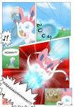 ambiguous_gender arti4000 aura aura_sphere bagon comic dialogue eeveelution female feral fight hi_res nintendo pokémon sylveon video_games