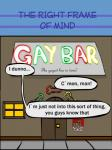 anthro anus backsack balls bar butt canine comic dialogue gay_bar kneeling looking_back male mammal penis presenting presenting_hindquarters the_right_frame_of_mind  Rating: Explicit Score: 0 User: TKhoa Date: October 10, 2015