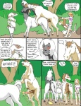 anatomically_correct anatomically_correct_penis anatomically_correct_pussy animal_genitalia anthro anus badger balls bite blonde_hair blush breasts centaur chubby comic comic_sans dialogue english_text equine equine_pussy erection female feral feral_on_taur from_behind group hair horse human interspecies male male/female mammal mustelid nipples overweight peeing penetration penis pussy reiger sex spanking taur teats text urine vaginal white_hair   Rating: Explicit  Score: 17  User: skykid  Date: June 27, 2011
