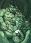 4_fingers 5_fingers anal anthro balls biceps censored crocodile crocodilian drooling duo flaccid green_body green_scales grin hypnosis kas20241013 kemono male male/male mind_control orange_eyes orange_sclera pecs penis red_eyes red_sclera reptile saliva scales scalie sharp_teeth sit_on_penis size_difference smile spiral_eyes teeth tongue tongue_out wet yellow_iris カスRating: ExplicitScore: 2User: smat_dragonDate: March 23, 2017