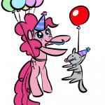 balloon cat cute cutie_mark duo earth_pony equine feline friendship_is_magic hair happy hat horse low_res mammal my_little_pony party_hat pink_hair pinkie_pie_(mlp) pony simple_background smile source_request unknown_artist white_background  Rating: Safe Score: 4 User: SwiperTheFox Date: October 20, 2015