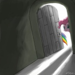 2011 backlit blue_eyes cupcakes_(mlp_fanfic) dark door doorway dutch_angle equine female feral friendship_is_magic fur hair horse horseshoe john_joseco light mammal my_little_pony pink_fur pink_hair pinkie_pie_(mlp) pony rainbow_dash_(mlp) shadow smile   Rating: Safe  Score: 5  User: Robinebra  Date: July 08, 2013