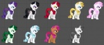 black_hair blonde_hair blue_eyes blue_hair brown_fur celebrity celery cherry_spices_(mlp) cutie_mark equine female feral fighting_is_magic friendship_is_magic fur green_hair grey_background grey_eyes grey_hair hair half-closed_eyes horn ice mammal mane6 my_little_pony pink_hair purple_eyes purple_hair rarity_(mlp) red_eyes red_hair simple_background unicorn vampire white_fur yellow_eyes  Rating: Safe Score: 1 User: kokonoe Date: December 25, 2012