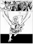 """anthro balls black_and_white blood comic dragon fangs feline feral fight flaccid flying katana male mammal melee_weapon monochrome negger nude open_mouth penis riding scalie spread_wings sword teeth tiger tongue weapon wide_eyed wings  Rating: Questionable Score: 2 User: Vinea Date: February 10, 2015"""""""