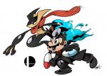 alternate_color amphibian anthro crossover dr._mario duo frog greninja justindurden long_tongue male mario mario_bros nintendo pills pokémon shiny_pokémon super_smash_bros tongue tongue_out video_games  Rating: Safe Score: 5 User: Juni221 Date: December 11, 2014