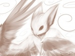 abstract_background amazing ambiguous_gender bust_portrait cute digital_media_(artwork) digital_painting_(artwork) feathers feral fur monochrome pointy_ears sepia signature simple_background solo spiral stare unknown_artist wings wyvern  Rating: Safe Score: 40 User: aversionCapacitor Date: June 12, 2013