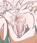 ambiguous_gender animal_genitalia anthro blush cum cum_in_mouth cum_inside duo erection fellatio fklow genital_slit hand_on_head hi_res japanese_text male male/ambiguous mammal nintendo oral overweight pokémon pokémon_(species) sex sketch slit text translation_request typhlosion tyranitar video_gamesRating: ExplicitScore: 8User: behverzhDate: November 07, 2017