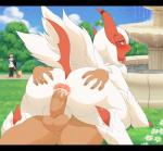 anus balls bestiality big_butt blush butt butt_grab canine cum cum_in_ass cum_inside feral hand_on_butt human human_on_feral interspecies lillipup looking_back lucky_(luckyabsol) male male/male male_on_feral mammal manene mega_absol mega_evolution nintendo outside penis pokémon pokémon_(species) poképhilia public raised_tail shiny_pokémon tongue tongue_out video_games