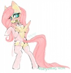 bdsm bondage bound butt clothing equine female fluttershy_(mlp) friendship_is_magic legwear lingerie mammal muzzle_(object) muzzled my_little_pony naughtywrens pegasus pinup pose socks solo stockings wings  Rating: Questionable Score: 6 User: uglybeast Date: November 21, 2015