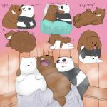 2017 <3 anal backsack balls bear butt cartoon_network da~blueguy grizzly_bear male male/male mammal oral panda penis polar_bear rimming sauna sex we_bare_bears
