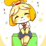 animal_crossing anthro black_nose blonde_hair canine clothing dog dress eyes_closed female fur hair hair_ornament isabelle_(animal_crossing) mammal nintendo short_hair sitting solo uniform unknown_artist video_games white_fur yellow_fur  Rating: Safe Score: 3 User: Cαnε751 Date: November 09, 2015