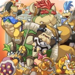 2010 <3 anthro ball beverage big_lips bow bowser bowser_jr. bracelet brick brick_wall claws coffee collar crying cup english_text eyes_closed fan father female food group hair horn iggy_koopa jewelry koopa koopalings larry_koopa lemmy_koopa lips lizard ludwig_von_koopa male mario_bros masabowser morton_koopa_jr newspaper nintendo overweight parent paws prince reptile ribbons ring rope roy_koopa royalty scalie shell simple_background smile spikes tears teeth text turtle video_games wall wendy_o_koopa  Rating: Safe Score: 10 User: Slow Date: May 23, 2012