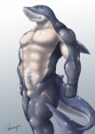 5_fingers abs anthro bald balls biceps big_muscles black_eyes bodysuit clothing cosplay costume erection fin fish fishmen fist great_white_shark grey_background grey_skin happy human male mammal manly manya marine muscular muscular_male nipples nude pecs penis pose scar shadow shark shiny simple_background skinsuit smile solo standing white_background white_skin yellow_eyes  Rating: Explicit Score: 20 User: WiiFitTrainer Date: August 30, 2013