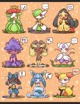 ! ... <3 ? ambiguous_gender bone braixen canine chibi concave_(artist) cute eeveelution female fox gardevoir glaceon lagomorph lilligant lopunny lucario mammal mawile mienshao mismagius musical_note nintendo pokémon rabbit video_games  Rating: Safe Score: 11 User: Rad_Dudesman Date: August 21, 2015