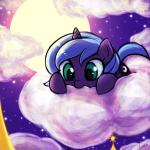 2015 blue_hair cloud cub cutie_mark equine female feral friendship_is_magic full_moon hair horn lumineko mammal moon my_little_pony on_cloud outside princess_luna_(mlp) solo unicorn young  Rating: Safe Score: 15 User: lemongrab Date: June 15, 2015""