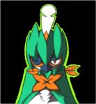 2016 alpha_channel ambiguous_gender anthro arrow avian beak bird blik blue_beak bust_portrait cel_shading decidueye digital_media_(artwork) eye_markings feathers flora_fauna front_view i-am-that-japanesse leaf looking_at_viewer low_res markings nintendo object_in_mouth orange_markings plant pokémon portrait red_eyes shaded simple_background solo transparent_background video_games white_feathers