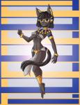 2015 anthro barefoot black_fur black_hair bra clothed clothing egyptian feline female fur hair jewelry loincloth makeup mammal navel nipple_bulge raptor007 red_eyes rena_(raptor007) skimpy solo underwear  Rating: Safe Score: 4 User: GameManiac Date: October 03, 2015