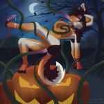 anal anal_penetration blush breasts canine cum dog female half-closed_eyes hi_res husky jack_o'_lantern mammal night oral penetration pumpkin sugarsweet tentacles vaginal vaginal_penetration  Rating: Explicit Score: 22 User: TsukiWolf Date: November 09, 2015
