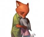 2016 anthro ashen canine disney duo female fox judy_hopps lagomorph male mammal nick_wilde rabbit zootopia  Rating: Safe Score: 5 User: Vallizo Date: April 30, 2016