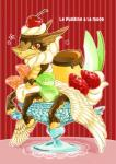 ambiguous_gender avian bird bow_tie candy cherry chocolate cute dessert dragon feathered_wings feathers feral food food_creature hooves looking_at_viewer orange_eyes pudding reptile scalie solo strawberry watanohara what what_has_science_done wings  Rating: Safe Score: 4 User: e17en Date: October 02, 2015
