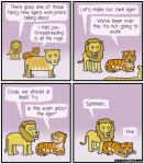 1111comics comic dialogue english_text feline feral humor hybrid imminent_sex liger lion male male/male mammal text tiger   Rating: Questionable  Score: 7  User: FatherOfGray  Date: February 21, 2015