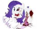 blood english_text equine female friendship_is_magic gore hair heterochromia horn innards intestines mammal my_little_pony nightmare_fuel open_mouth purple_hair rarity_(mlp) simple_background solo text thegalen unicorn white_background white_body  Rating: Questionable Score: -16 User: Sods Date: December 26, 2013